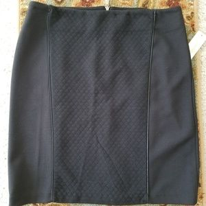 Black Laundry Quilted Front Skirt